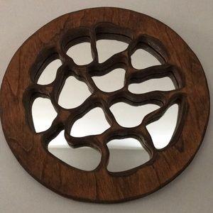 Vintage Carved Wood Mirror